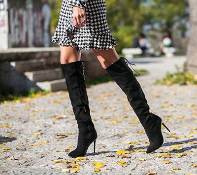 Baner ženske duboke čizme jesen 2020 Safran